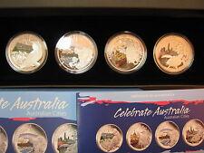 Celebrate Australia Australian cities Set 4 in box 2010 Perth Mint 4 x 1 OZ