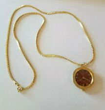 Vintage Goldtone Sheffield Swiss Made Winding Automatic Pendant Watch...