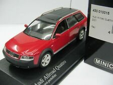 WOW EXTREMELY RARE Audi A6 C5 Avant Allroad 2.7 Quattro 2001 Red 1:43 Minichamps