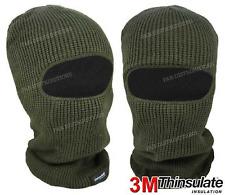 Balaclavas Green Mask 1 Hole Winter SAS Style Army Ski Hat Neck Warmer Thermal
