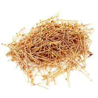 500pcs Gold Flat Head Pins Connector Findings for DIY Jewelry Making 32mm