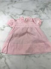 Vintage Baby Girls Newborn Pink White Trim Dress Classic Collectible Doll Wear