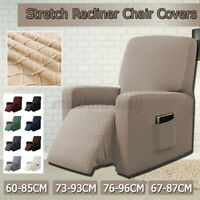 US Recliner Sofa Slipcover Stretch Single Couch Chair Protector Cover w/ Pocket