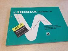 Honda XL350R RÉ RF XLR 350 XL R 350 parts list liste catalogue pièce détachée