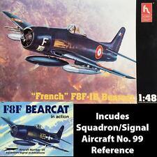 "HobbyCraft 1/48 ""French"" F8F-1B Bearcat Model Kit #HC1441 w/ F8F in Action Book"
