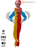 1.5m Animated Scary Clown Prop Light Sound Halloween Party Decotion Circus Evil