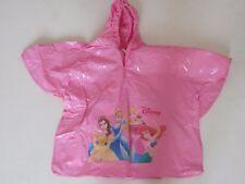 Girls Raincoat Sz 8-12 Poncho DISNEY Princess PVC Hooded Pink NWOT
