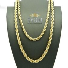 "14K Real Yellow Gold 3.5mm Thick Rope Link Chain Necklace 20"" - Hollow"