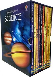 Usborne Beginners Series Science Collection 10 Books Box Set Solar System, Sun