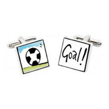 Football Goal Cufflinks by Sonia Spencer, Hand painted, RRP £20!