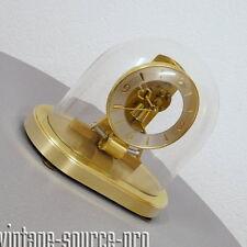 edle Kieninger Messing Glas ATO Magnetpendeluhr Kaminuhr Buffetuhr 50er 60er J.