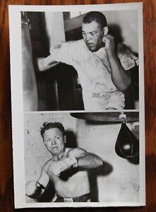 Original Vintage 1951 Boxing Photo: Joe Louis & Lee Savold