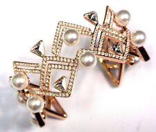 Retired Edify Crystal Cuff Bracelet Medium Rose Gold Swarovski Jewelry #5207246