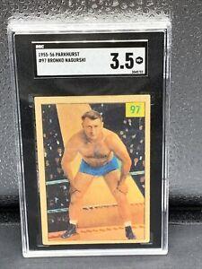 1955 Parkhurst Wrestling #97 Bronko Nagurski - SGC 3.5 RARE