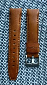 20mm Sunrise TAN Calfskin leather curved (fitted) Band Strap Rolex Submariner