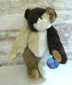 """Vermont Teddy Bear MISFIT Jointed Multi Color Patchwork Bear 15"""" New w Tag"""