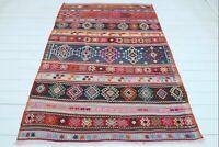 "Vintage Oriental Balya Kilim, 5x7 Rug, Floor Rug, Carpet Teppich57""x81"" Area Rug"