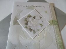 On Your 1st Anniversary.........Larger Wedding Anniversary Greetings Card
