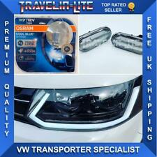 VW T5.1 Sequential Indicator DRL Headlights Upgrade Bulbs & Clear Side Repeaters