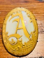 ANTIQUE PIN WITH REAL GOLD PAINT