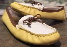 Anne Klein Sport Moccasins Yellow White Billie Jean Model Size 7.5M