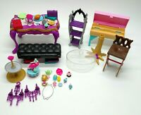 Ever After High Accessories Furniture Lot Mattel Table Chair Food Monster High