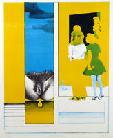 "Kritischer Realismus ""Beobachtung"" 1971 Hans-Jürgen DIEHL (*1940 D) handsigniert"