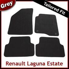 RENAULT LAGUNA Estate 2001... 2007 MOQUETTE SU MISURA tappetini AUTO (2) del tipo di clip Grigio