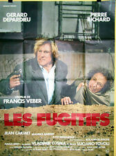 Affiche LES FUGITIFS. 120 X 160 cms. Gerard Depardieu, Pierre Richard