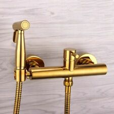 Brass Toilet Handheld Bidet Spray Shower Gold Set With Hot and Cold Mixer Valve
