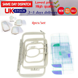 Embroidery Frame Hoops Set for Brother Innovis BabylockSewing Machine Parts 4pcs