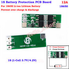 1S 12A 3.7V 18650 Li-ion Lithium Lipo Battery Charger BMS Protection PCB Board