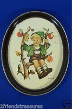 Hummel Apple Tree Boy Oval with Bird Tin Tray Ars Edition 1982 Tr-H297