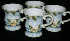 Vintage Set Of 4 Zrike Floral Country Coffee/Tea 16 Ounce Cups/Mugs ? Pattern