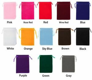 New Velvet Drawstring Pouch Jewelries With Party Gifts Bag Christmas And Wedding