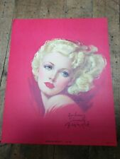 Rare Hand Signed Zoe Mozert Pinup Print American Beauty Blond Glamour Girl
