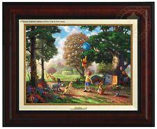 Thomas Kinkade Winnie The Pooh II Canvas Classic (Burl Frame)