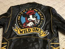 VTG 90s Jeff Hamilton Mickey Mouse Disney Leather 80s Motorcycle Biker Jacket Xl