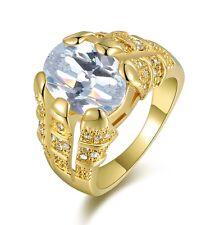 Sapphire 14K Gold Filled Wedding Rings Mans Fashion Size 9 Princess Cut White