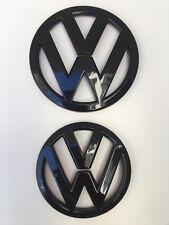 VW GRILLE HATCH Gloss Black Badge Set Combo for Volkswagen SCIROCCO R 2009-2014