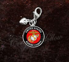 925 Sterling Silver Charm United States Marine Corps
