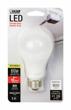 FEIT Electric  10.6 watts A19  LED Bulb  800 lumens Bright White  A-Line  60 Wat