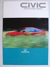 Prospekt Honda Civic Coupe CRX 1. Modell, ca.1984, 12 Seiten für Österreich