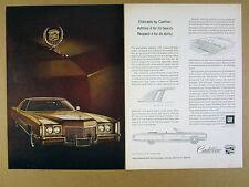 1971 Cadillac Fleetwood Eldorado Coupe color car photo vintage print Ad