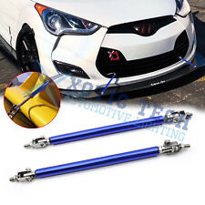 Adjustable Blue Front Bumper Lip Splitter Strut Rod Tie Support Bars for Hyundai (Fits: Hyundai)