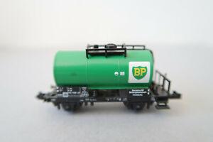 """Minitrix N 3544 Kesselwagen 002 1 030-0 DB """" BP """" (AK15-6S4/34)"""