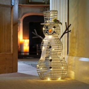 Christmas LED Snowman Ornament Decoration Pre-Lit Home Garden Decor Deer Xmas