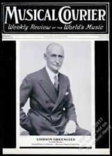 1937 Loudon Greenlees photo Musical Courier framing cover