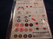 DECALS CARPENA P-51 MUSTANG PART 1 72.47 1:72 NEW