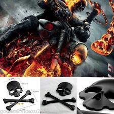 Tank Fender Fairing Skull Demon Bone Badge Emblem Metal Decal Sticker For Harley